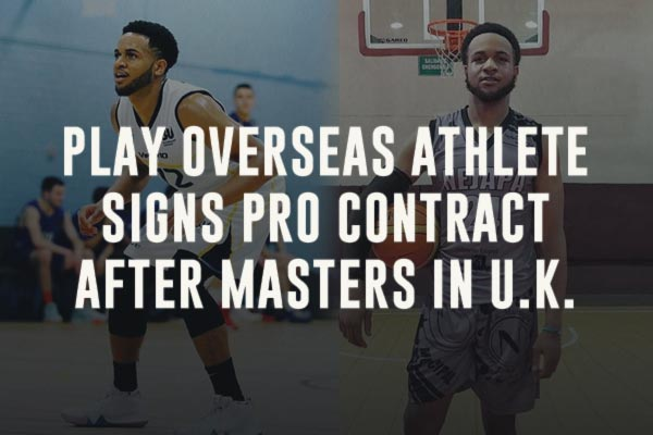 Play Overseas Athlete Signs Pro Basketball Contract