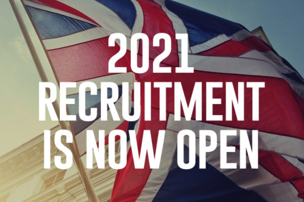 2021 Recruitment Is Now Open